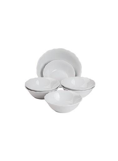 Kütahya Porselen Lar 7 Parça Salata Seti Renkli